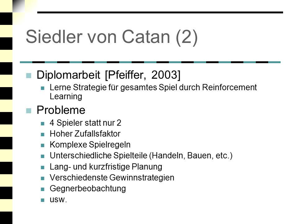 Siedler von Catan (2) Diplomarbeit [Pfeiffer, 2003] Probleme